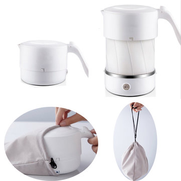 600W 110-240V 500ML Foldable Silicone Electric Kettle Tea Coffee Boiler Jug
