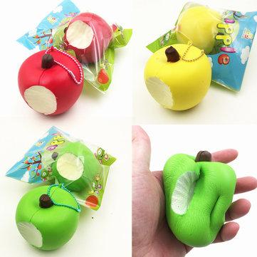 Sanqi Elan シミュレーション かわいい りんご 柔らかい スクイーズ 低反発 オリジナルパッケージ ストラップ おもちゃ