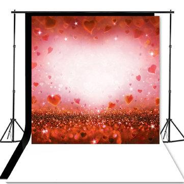 8x8ft Valentine's Day Love Heart Photography Background Studio Backdrop