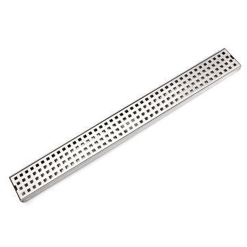 Stainless Steel Tile Insert Linear Shower Grate Bathroom Floor Drain Channel Tile Drain