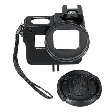 Aluminum Alloy Protective Case Housing Frame 52MM VU Lens Cap for GoPro Hero 7 6 5 Action Camera