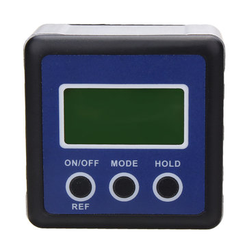 Digital LCD Display Box Gauge Angle Protractor Level Inclinometer Declinometer