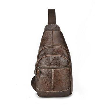الرجالجودةجلدطبيعيالرياضةعارضة الصدر حقيبة البسيطة كروسبودي حقيبة