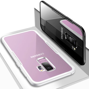 Bakeey Tempered Glass Back Cover TPU Frame Protective Case for Samsung Galaxy S9/S9 Plus