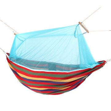 Outdoor Portable Swing Hammock Camp Patio Yard Hanging Tree Bed With Mosquito Net