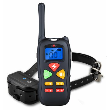 Dog Training Collar Rechargeable and Waterproof 1000 Foot Range Shock Electric Collar
