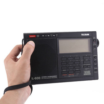 TECSUN PL-600 Digital Tuning Full-Band FM MW SW-SBB PLL Shortwave Stereo Radio Receiver with Clock
