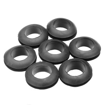 1000pcs Rubber Grommet Cable Wire Protective Ring 10mm Double Sided