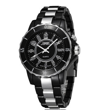OHSEN FG0736 Stainless Steel Band Waterproof Analog Men Wrist Watch