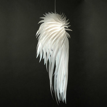Modern Pendant Light Romantic Angel Wing Feather Bedroom Living Room Lamparas Lustre Hanging Lamp