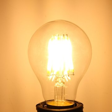 E27 A60 LED 8W COB Edison Retro Filament Light White/Warm White Tungsten Globe Lamp Bulb AC 220V