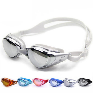 Electroplated Myopia Goggles Waterproof Anti Fog Anti-UV Wearable Swimming Glasses