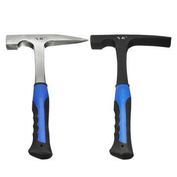Flat /Pointed Hammers Shock Reduction Grip Geology Prospecting Mine Exploration Tool
