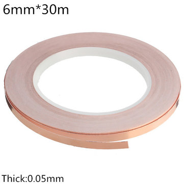 6mm×30m Low Impedance Conductive Coppper Foil EMI Shielding Self Adhesive Tape