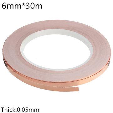 6mm×30m Low Impedance Conductive Coppper Foil EMI Shielding Self Adhesive Tape