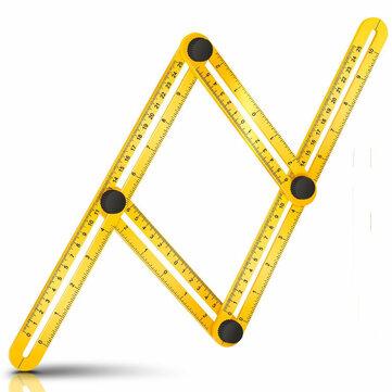 264316dd90627 متعددة زاوية قياس حاكم قياس جميع الزوايا Angleizer أدوات القياس القالب