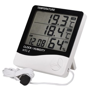 Indoor And Outdoor Electronic Temperature Hygrometer Multi - Function Alarm Clock