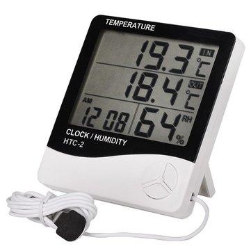 Kapalı ve Outdoor Elektronik Sıcaklık Higrometresi Çok Fonksiyonlu Alarm Saat