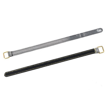 2Pcs RJX 20x650mm 3(M) Fiber Metal Clips Non Slip High Strength Black Battery Strap