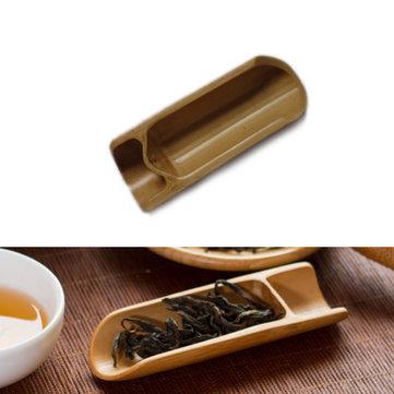 Natural Bamboo Tea Scoop Spoon Tea Leaves Chooser Holder Kungfu Tea Accessaries