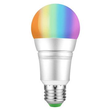 Original AC85-265V E27 9W RGB + Blanco cálido WiFi Smart luz LED Bombilla Trabaja con Amazon Alexa Voice Página principal de Google