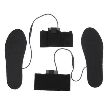 Women Men Electric Battery Heated Insoles Winter Warming Flexible Foot Warmer Shoes Pad