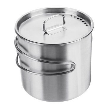 500ml Stainless Steel Cooking Pot Foldable Portable Camping Picnic BBQ Cooking Tool