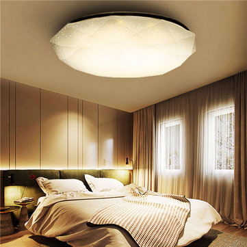12W Bianco / Bianco caldo Diamond LED Plafoniera per montaggio a ...