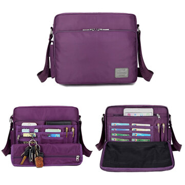 Waterproof Nylon Messenger Bag Multifunction Capacity Leisure Crossbody Bag