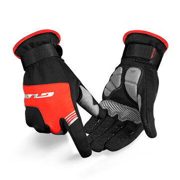 GUB S089 Cycling Windproof Screen Touch Mivrofiber Full Fingers Bike Gloves Waterproof Anti-slip Bicycle Gloves