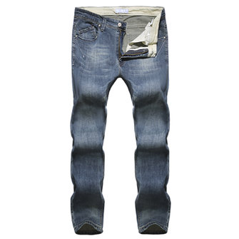 Mens Spring Retro Fashion Casual Slim Fit Straight Skinny Jeans Cotton Denim Pants