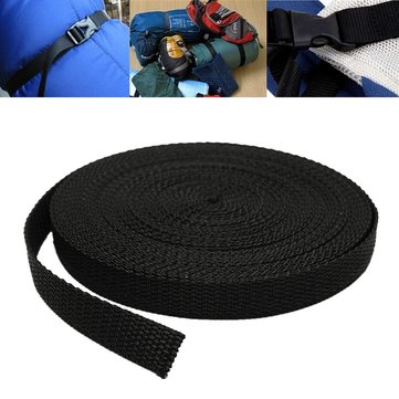 15mmx10m Black Nylon Fabric Webbing Tape For Making Strapping Belting Bag Strap