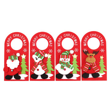 Applique Style Christmas Decor Beautiful Detailed Design Padded Felt Door Hanger
