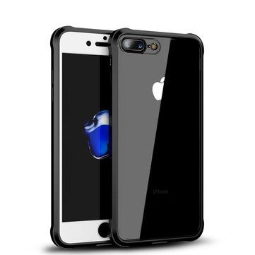 iPaky Full Body Front And Back Clear Acrylic & TPU Case With Tempered Glass Film For iPhone 8 Plus/7 Plus