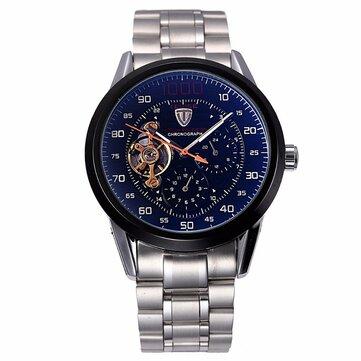 Tevise 8378 автоматические механические часы обратного отсчета мужские наручные часы из нержавеющей стали