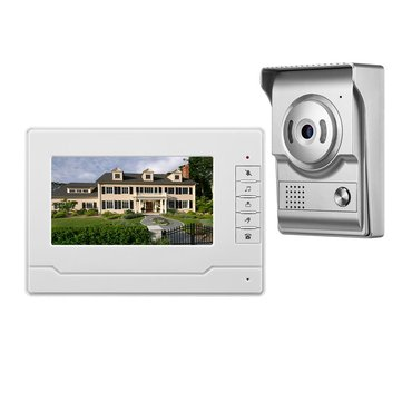 7 inch Color Screen Video Doorbell Intercom 4 Wired Video Door Phone HD Camera for Home Improvement