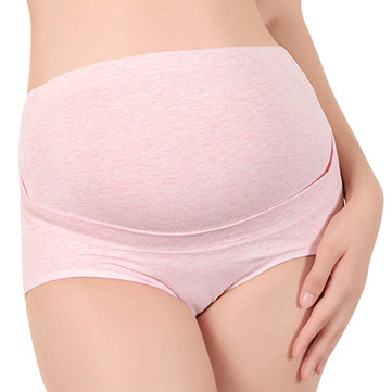 Woman Comfy Cotton Pregnant Panties High Waist Double Supporting Maternity Underwear