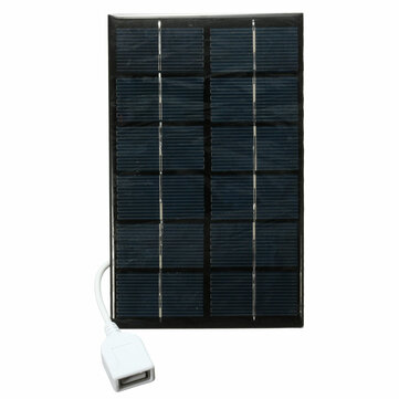 6V 2W Photovoltaic Charger Solar Panel With USB Cable For MP3 MP4 Tablet PC Mobile Phones