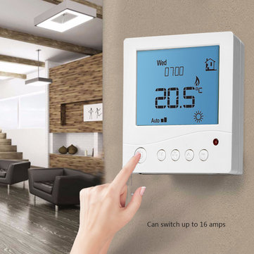 LCD Digital Home Programmable Thermostat Temperature Controller Heater for Electric Underfloor Heating