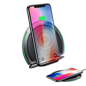 Baseus 10 W Katlanabilir Qi Kablosuz Hızlı Şarj Pad Tutucu için iPhone 8 S9 S9 + Huawei P20 Pro