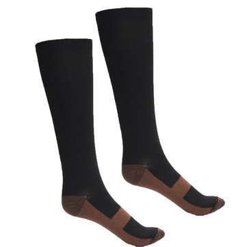 Unisex Copper Compression High Socks Anti Fatigue Support Pain Relief Stockings