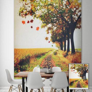 Fondo cieco della decorazione della parete della tenda di finestra pag tapparelle autunno stampa a rulli di pittura