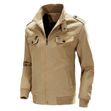 Autumn Winter Military Style Casual Cotton Cargo Jacket for