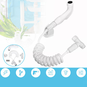 Toilet Shattaf Adapter Spray Handheld Home Shower Head Wall Bracket Hose Kit
