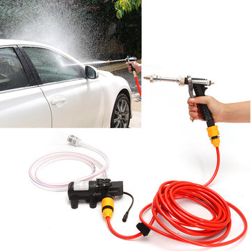 12V 65W High Pressure Marine Deck Car Washer Wash Water Pump Cleaner Sprayer Kit