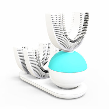 360° Automatic Electric Sonic Toothbrush Quickly Brush in 10s USB Wireless Charging Powered Rechargeable