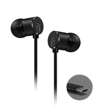 Original OnePlus 2T Type-c Earphone DAC Aryphan Polyarylate Stereo Wired Control Headphone with Mic