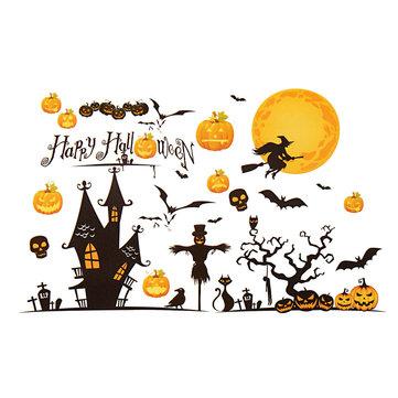 Halloween Festival Sticker Design Mural Home Bar Wall Decal Decoration
