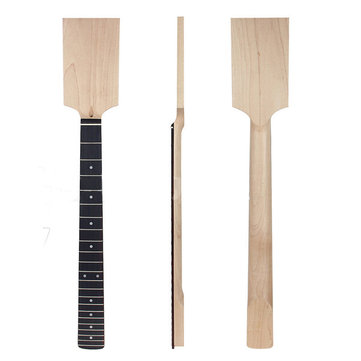 Electric Guitar Neck Paddle Headstock Rosewood Fingerboard 22 Frets Unfinished