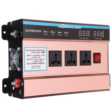 10000W Solar Power Inverter DC 12/ 24V to AC 220V Modified Sine Wave USB Converter
